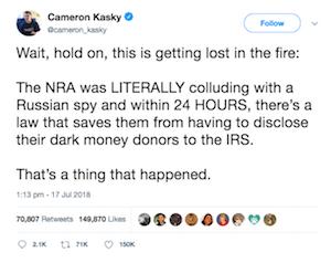 Cameron Kasky tweet